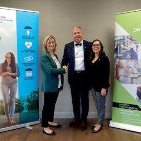 UV Mutuelle remet un deuxième prêt de 1 M$ au  CAE Drummond pour soutenir les PME de la région